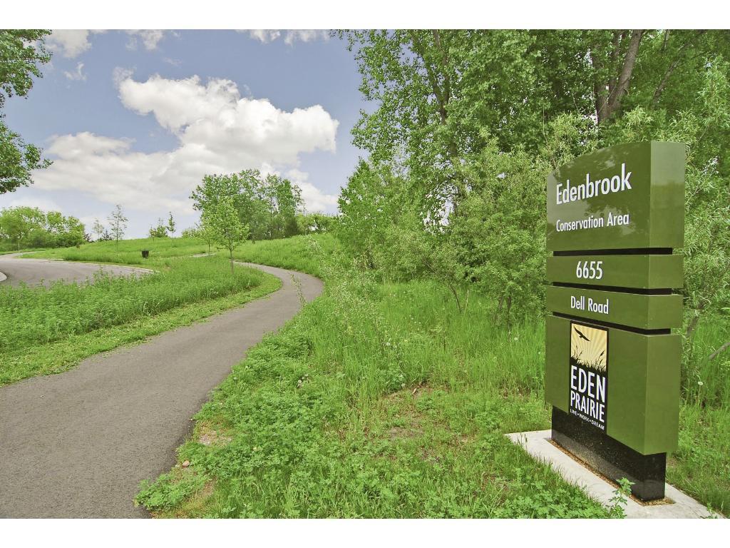 Edenbrook Preserve and Trails mere blocks away.