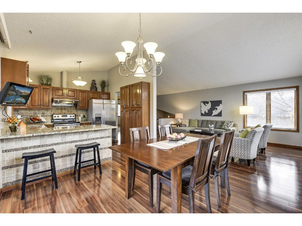 Open main floor layout with vaulted ceilings!