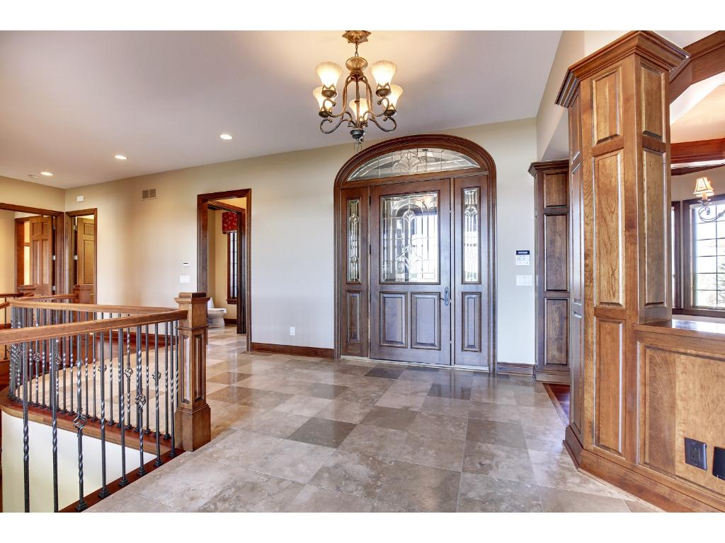 Grand marble foyer with heated floors.