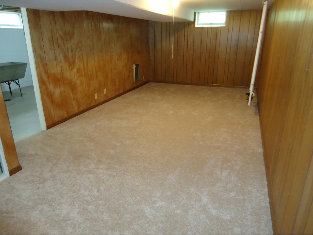 THE REC ROOM HAS NEW CARPET AND A  STORAGE CLOSET.