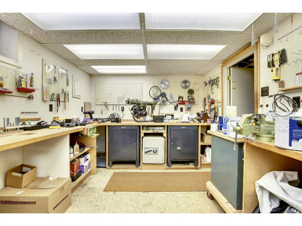 "The Clean, Dry Basement includes this ""Guy's Workshop""..."