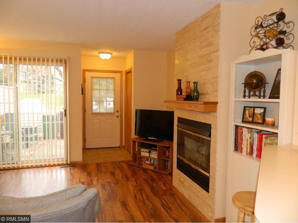 Living room with sliding door to patio.