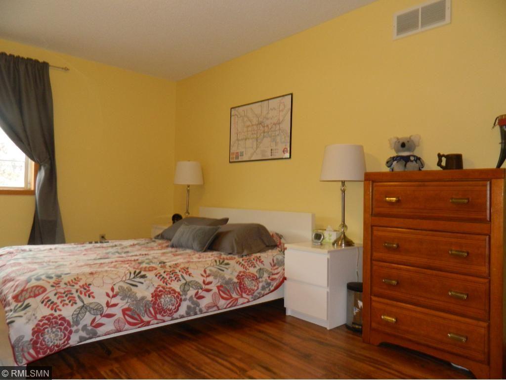 Master bedroom has updated laminate flooring, too!