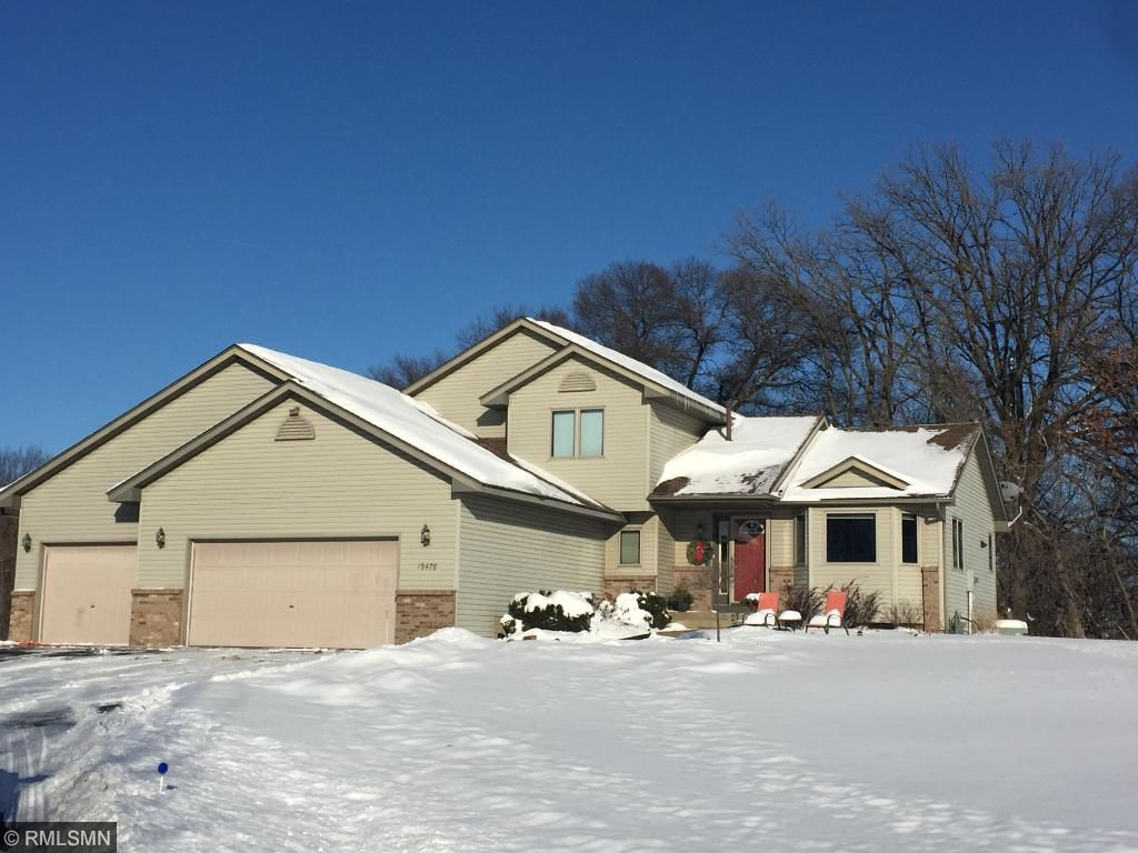 Welcome to 19476 114th Street SE, Big Lake!   This 4 bedroom, 3 full bath home is on 2.5 acres and is on a quiet road at the end of a cul-de-sac.