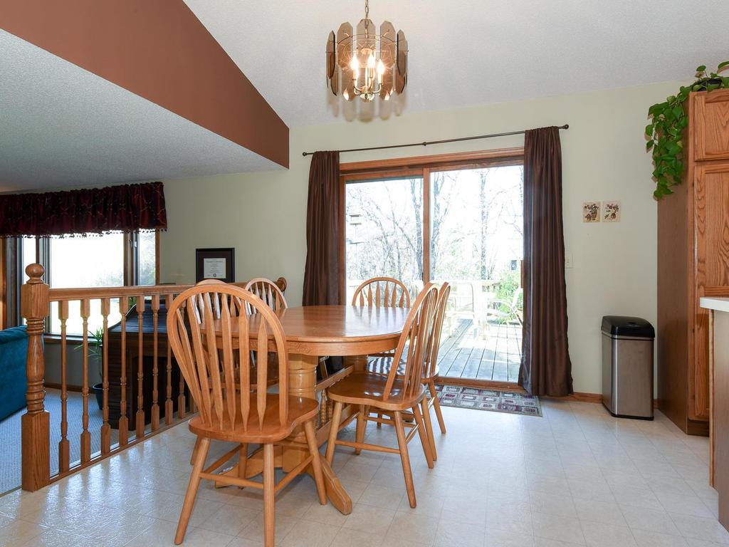 The kitchen has plenty of cupboard space and a center island.   The property comes with all appliances.
