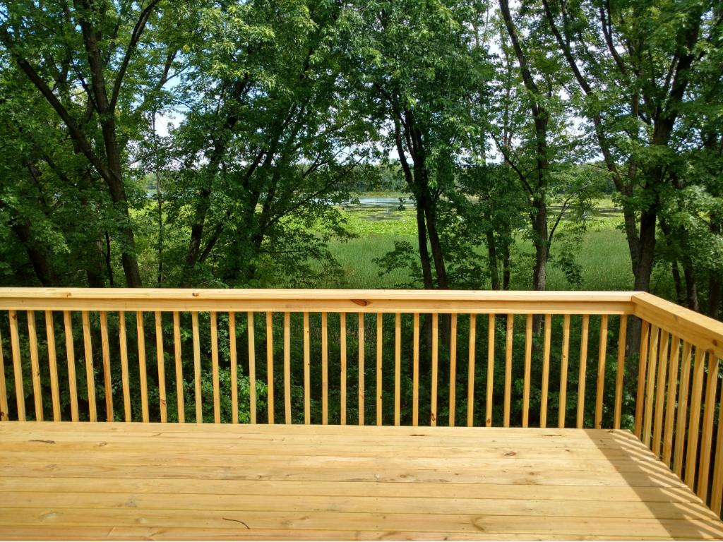 Beautiful view of the lake from deck