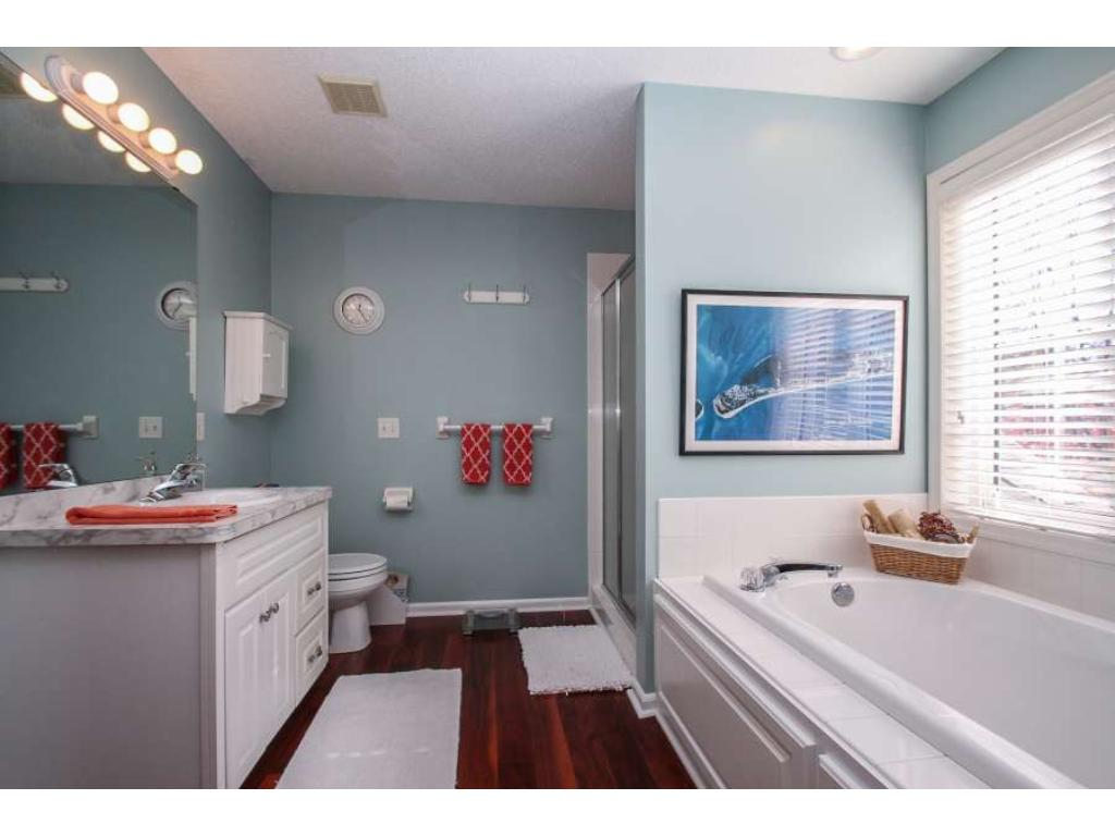 Owner's suite has conveniently located laundry chute.