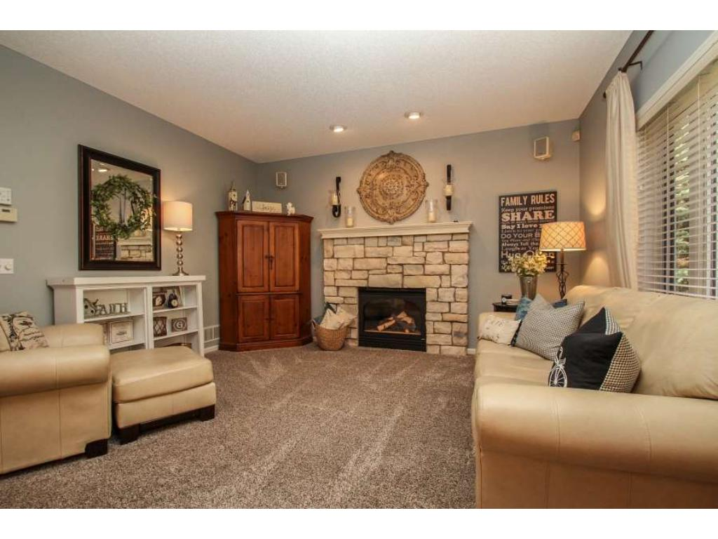 Main level library/sitting room with inviting french doors and tranquil cul-de-sac views.