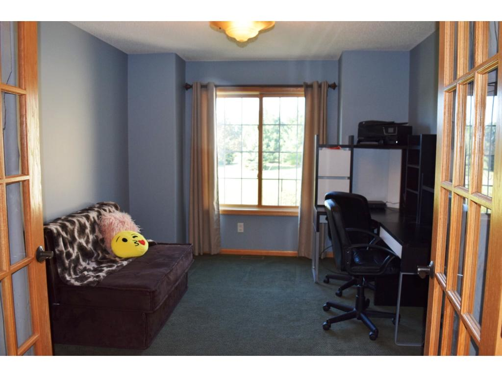 Main level den/office. Conveniently located off front entry.