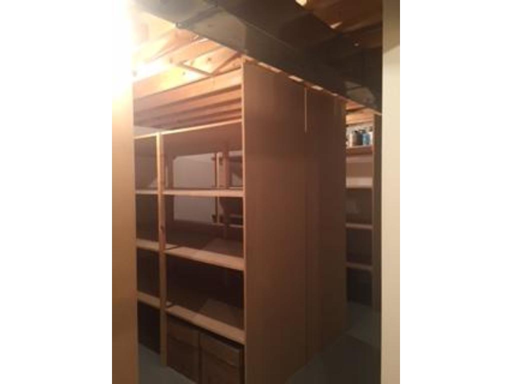 Custom-built shelving for an abundance of storage!