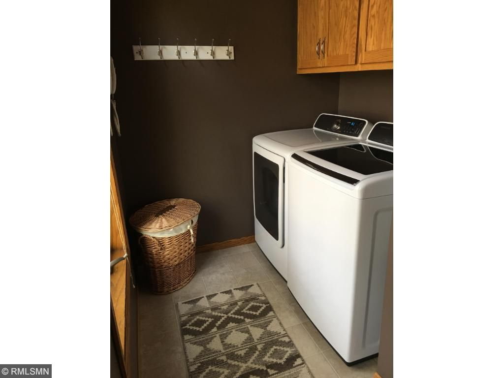 New efficient washer and dryer on main floor.