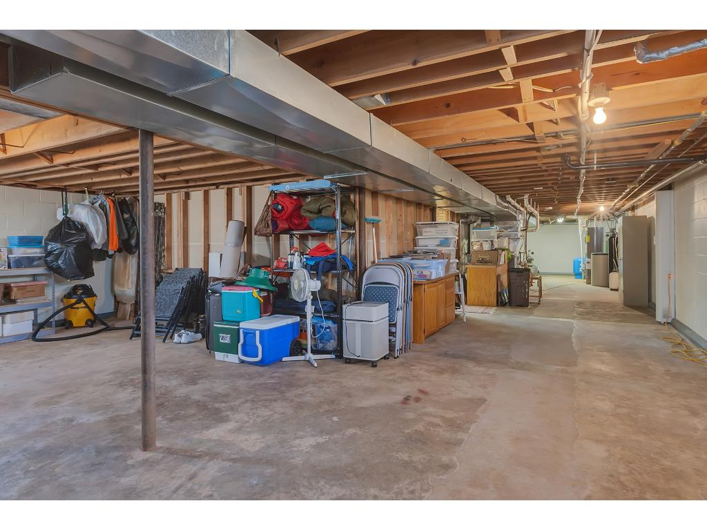 Lower level storage space offers a multitude of uses