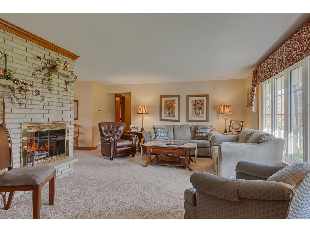 The main floor living room is the perfect place to enjoy company!