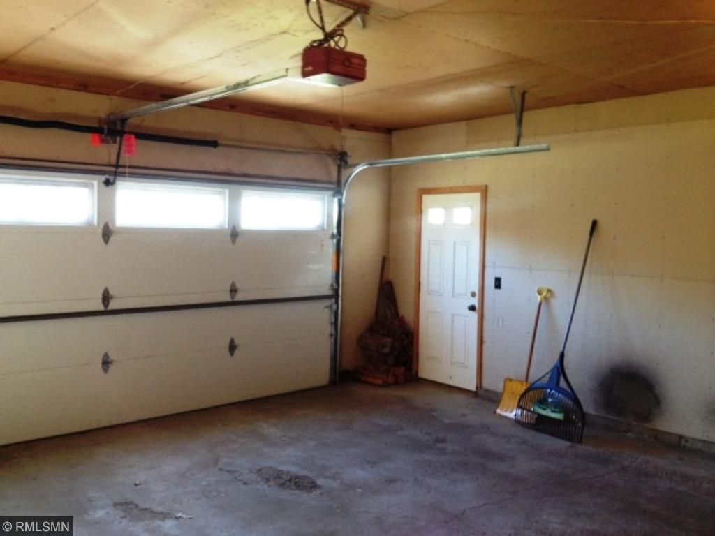 Insulated and sheet rocked attached garage.