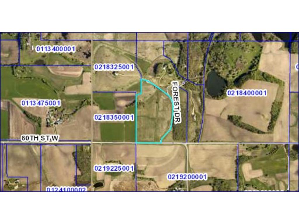 Views for miles!  Lovely Rolling property. Just NE of Lonsdale.  EZ access to I35.  Build your dream home here!  20-25 acres tillable.