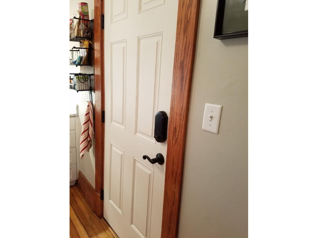 New Back Door with Key Pad Entry