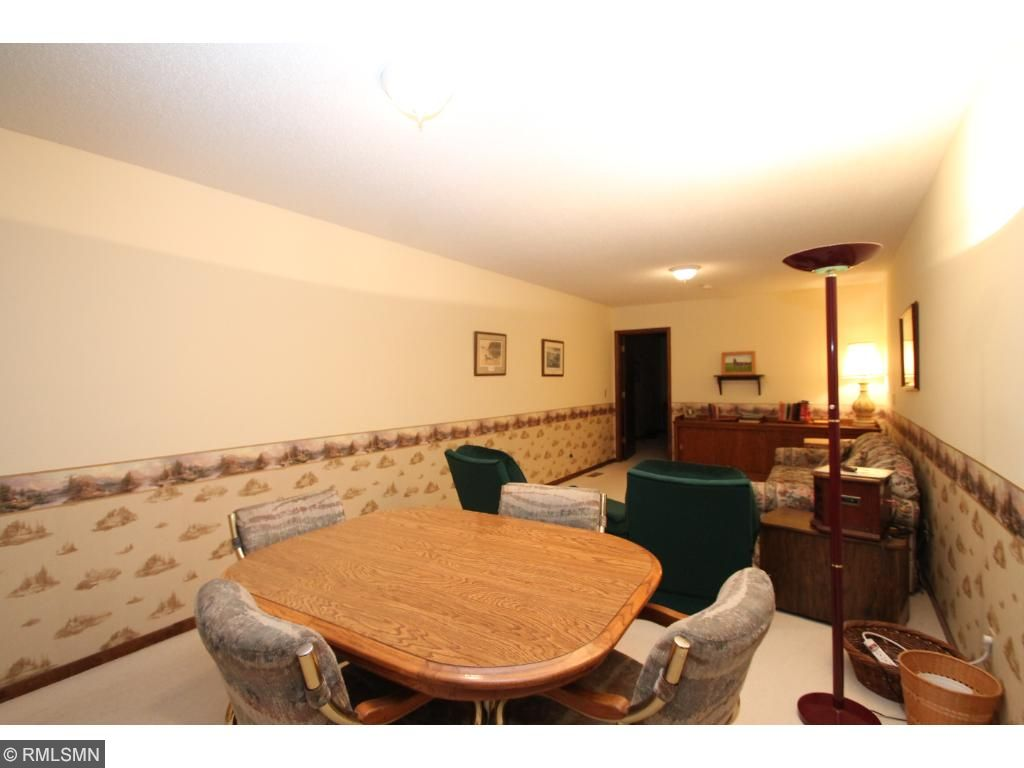 Spacious lower level features this family room and a separate hobby/exercise room.