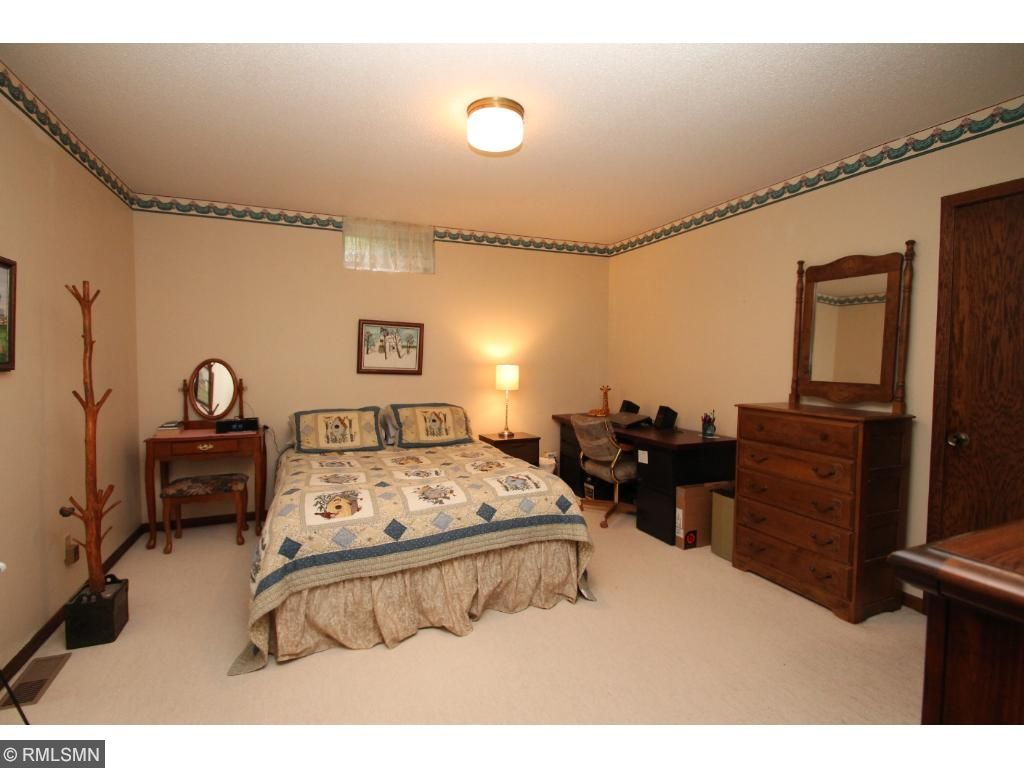 This room needs an egress window but has a closet and plenty of room for a bedroom.