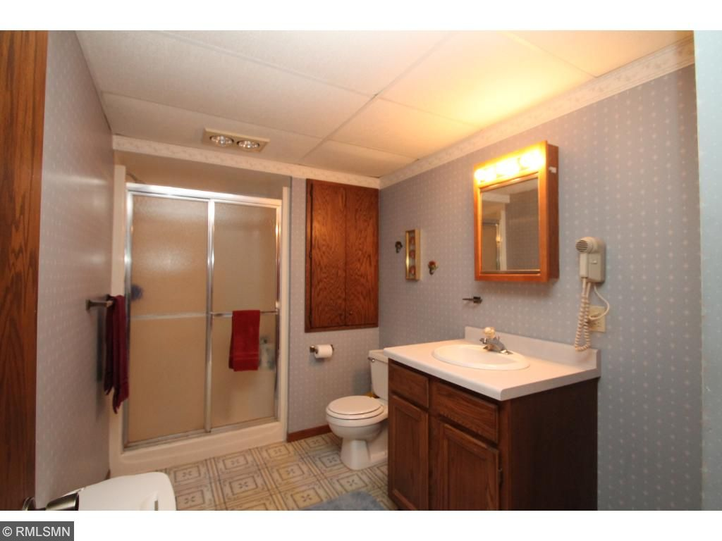 3/4 bath in lower level.