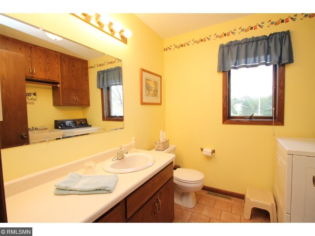 Main floor laundry and 1/2 bath.
