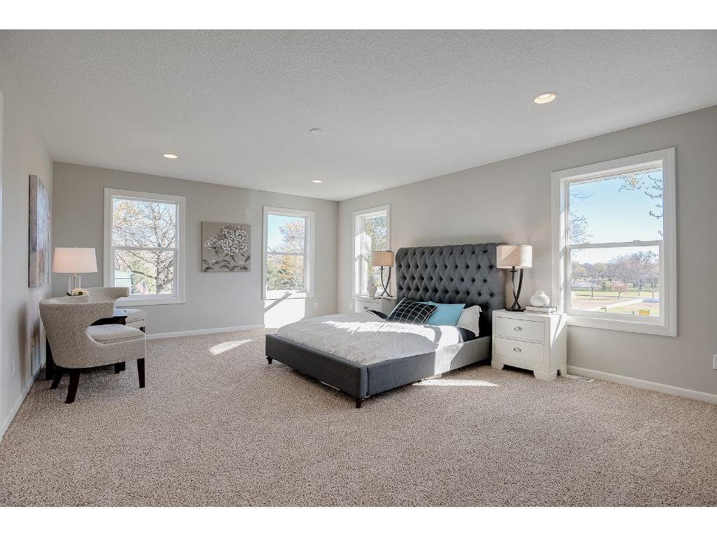 Master bedroom with on suite.