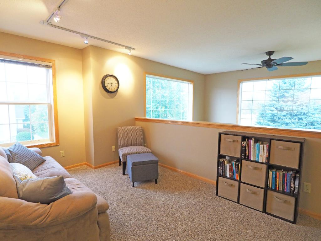 You'll love this extra living space with the upstairs loft.