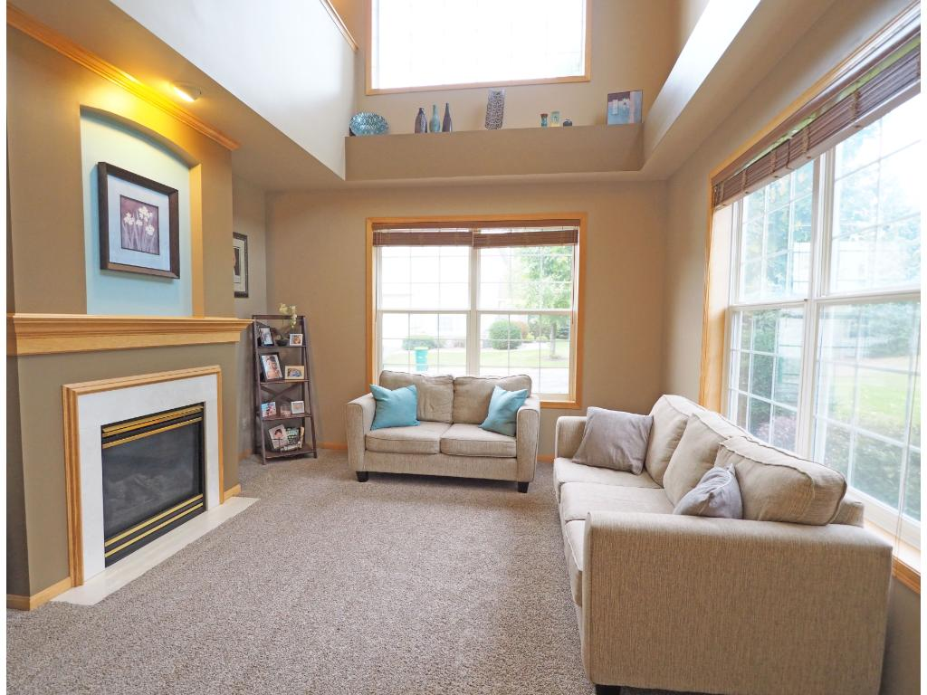 Stunning 2 story living room