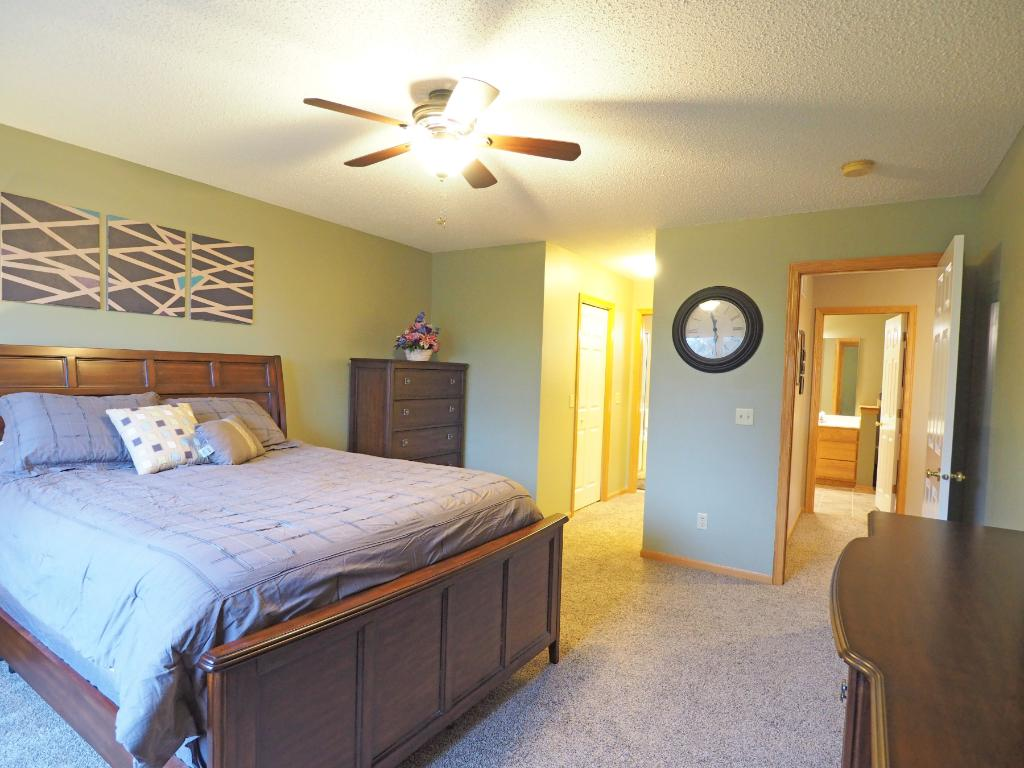 The master bedroom has a hard to find walk through to the upstairs bath.