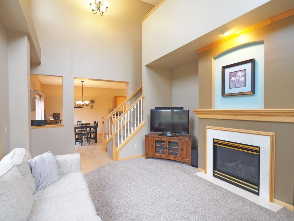 Cozy up to the gorgeous fireplace throughout the Minnesota winters.