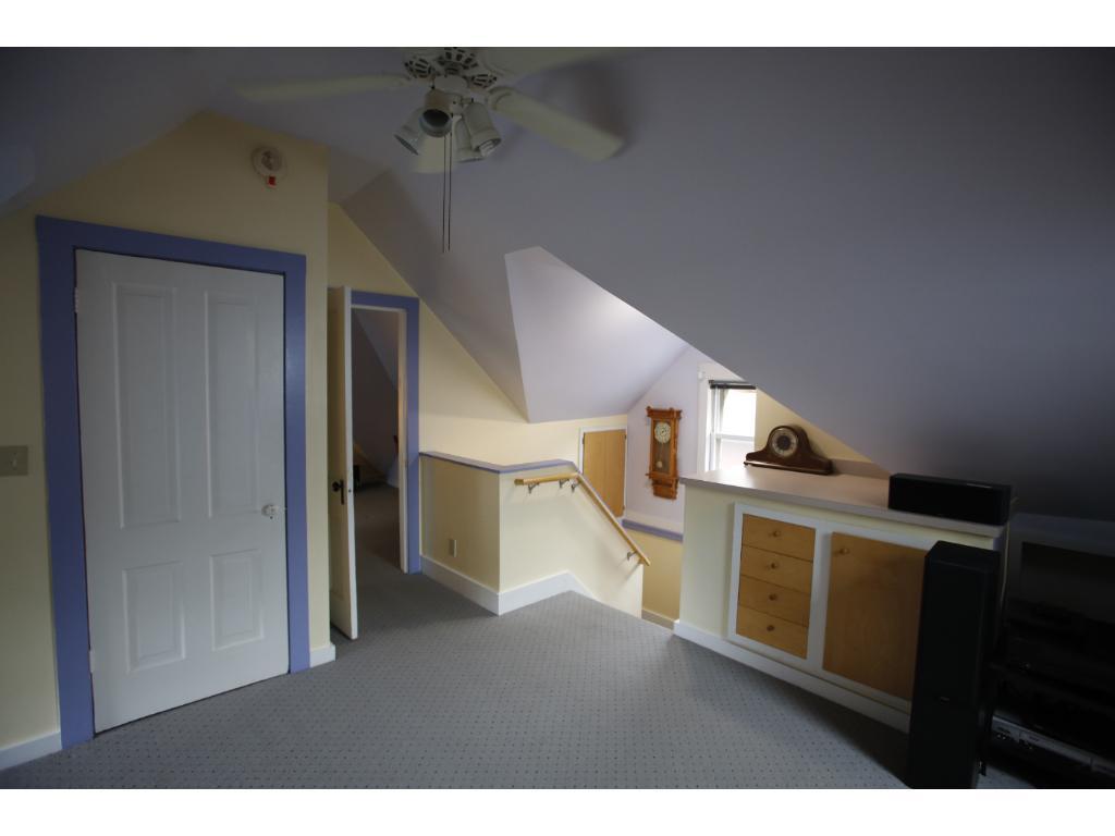 Sunny third floor family room, lots of storage