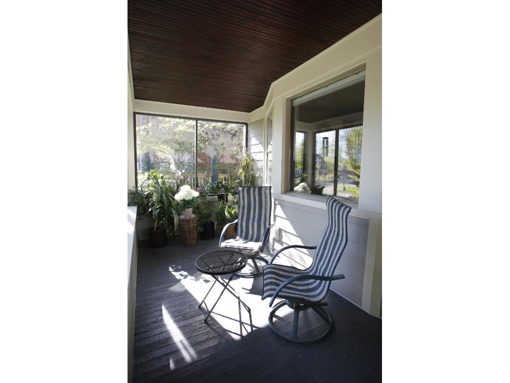 Spacious south facing screened porch