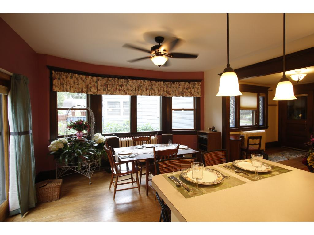 From kitchen into east side dining room