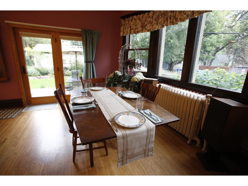Dining room overlooks back garden