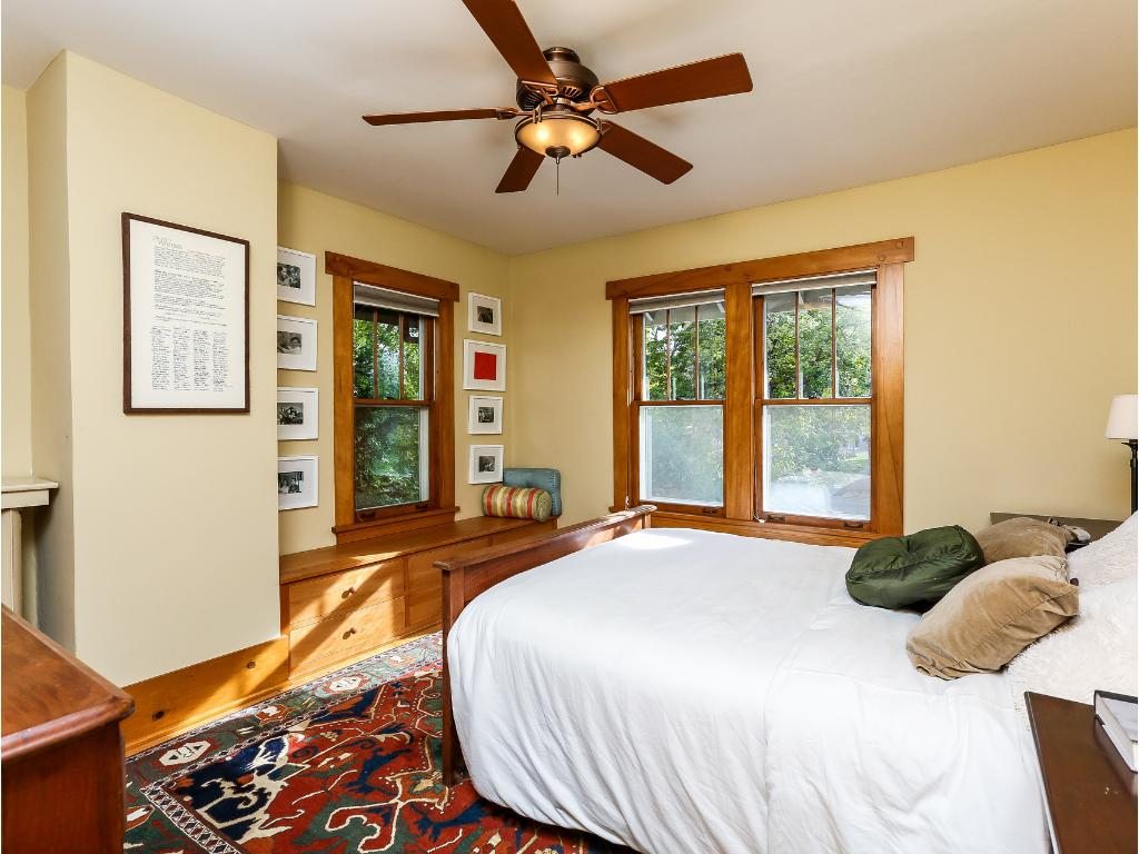 Master bedroom with window seat