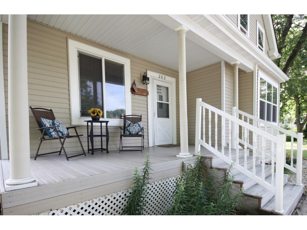 Sit back & relax on this maintenance free porch!