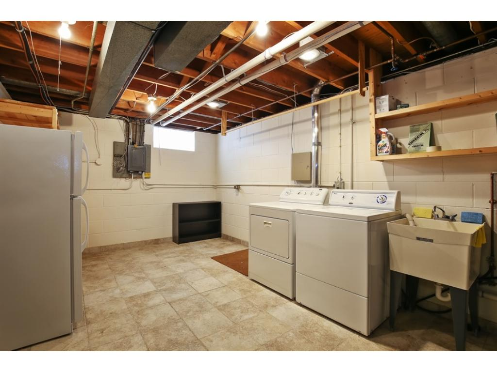 Spacious laundry room in lower level