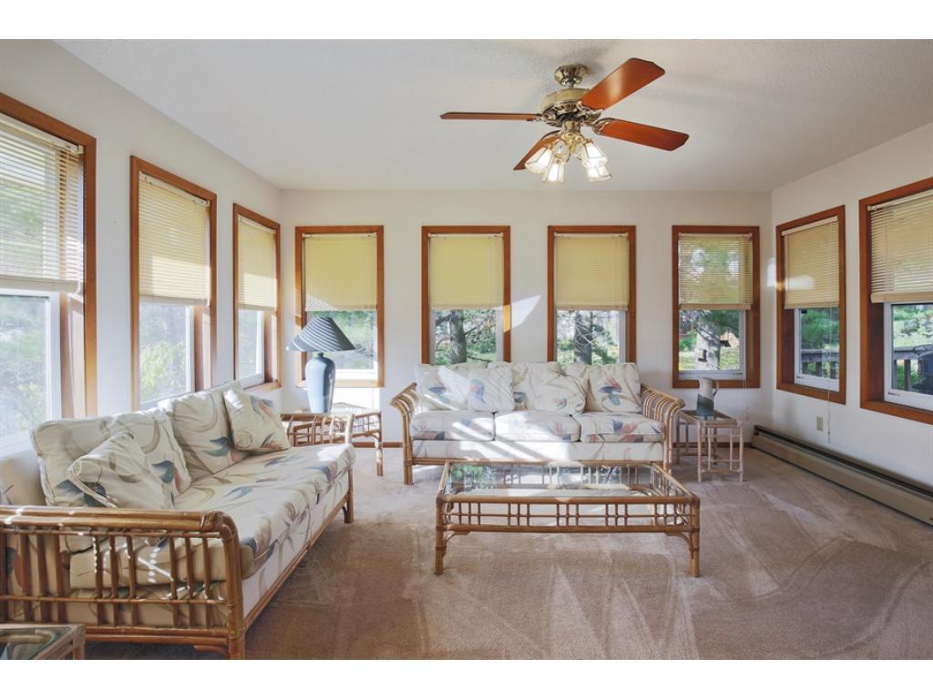 Bright 3 season porch is a great bonus room!