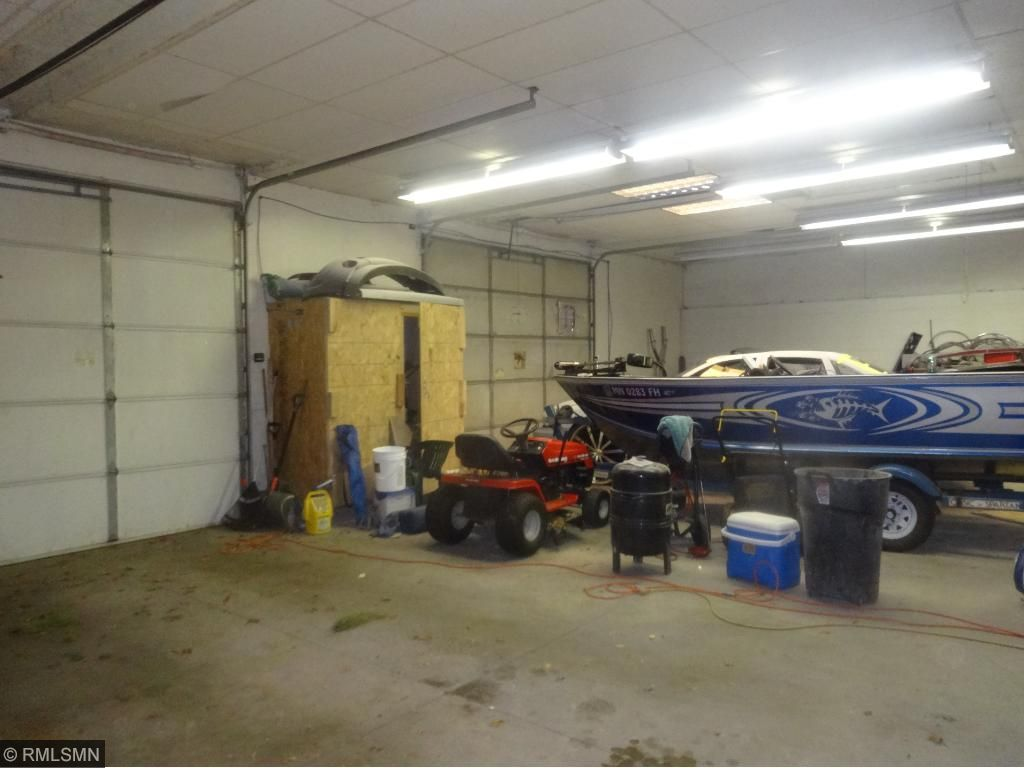 Huge attached heated garage