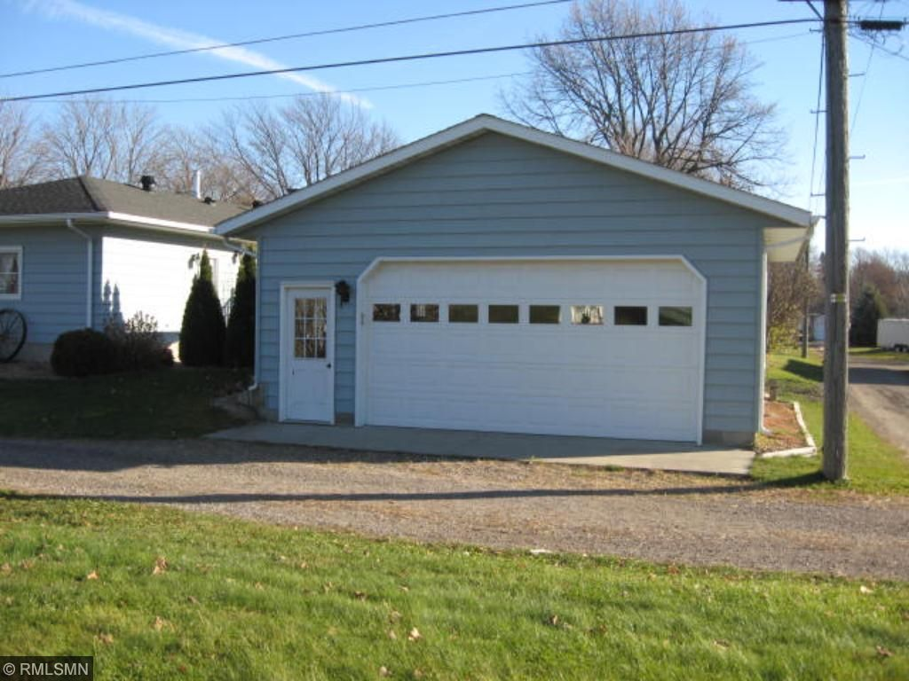 Detached two stall garage