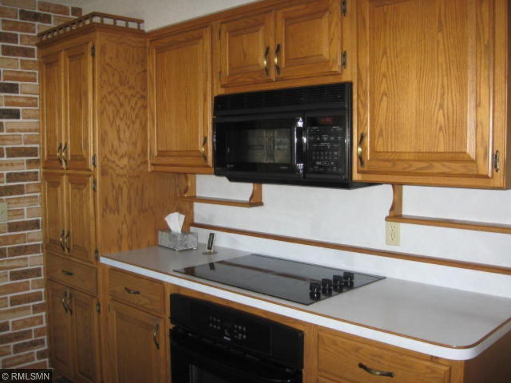 Newer appliances in the kitchen