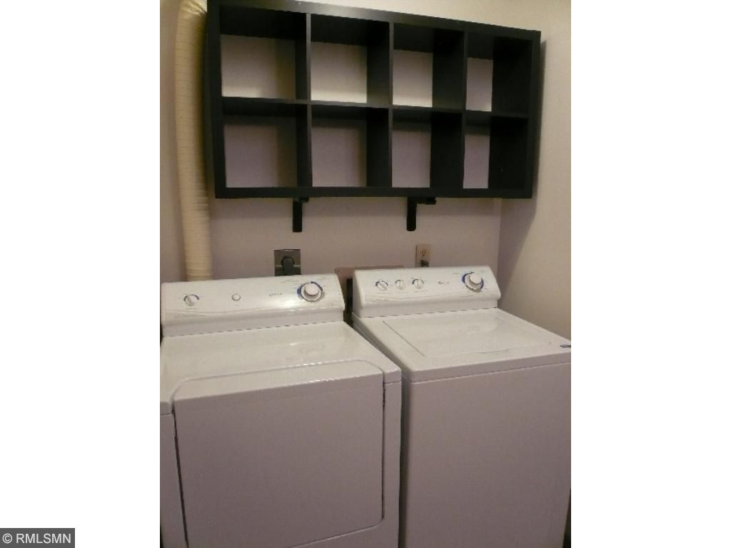 Convenient laundry with built in storage