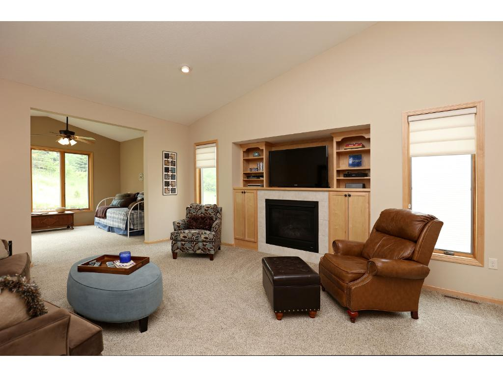 Beautiful Built In Maple Shelves Surrounding Gas Fireplace! Nice  Architectural Details Throughout This Home