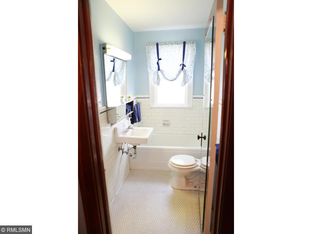 Two full baths.  This is the main level bathroom.