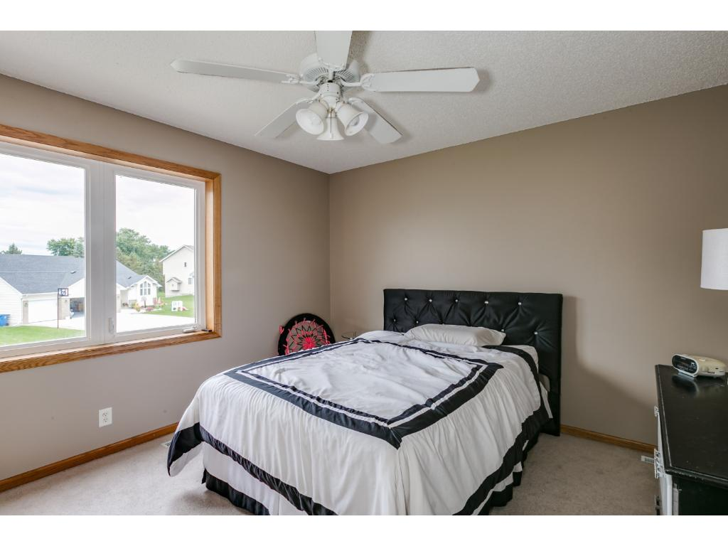 Each of the other three bedrooms on this level have ceiling fans, neutral colors, friese carpet and large closets.