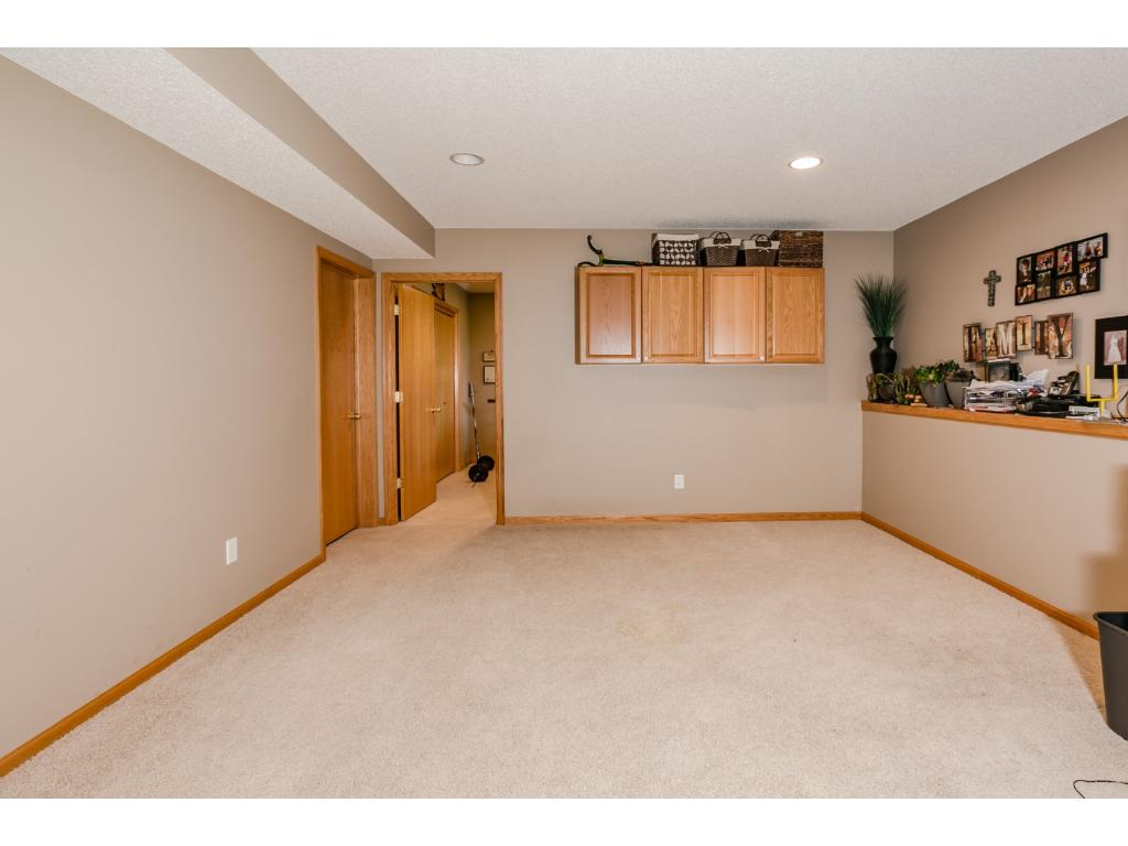 This would be the perfect spot for a game room or free standing bar area, another lounge area for the kids or a play room for toys.