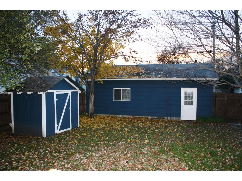 28x24 insulated 2 stall garage and 8x6 storage shed