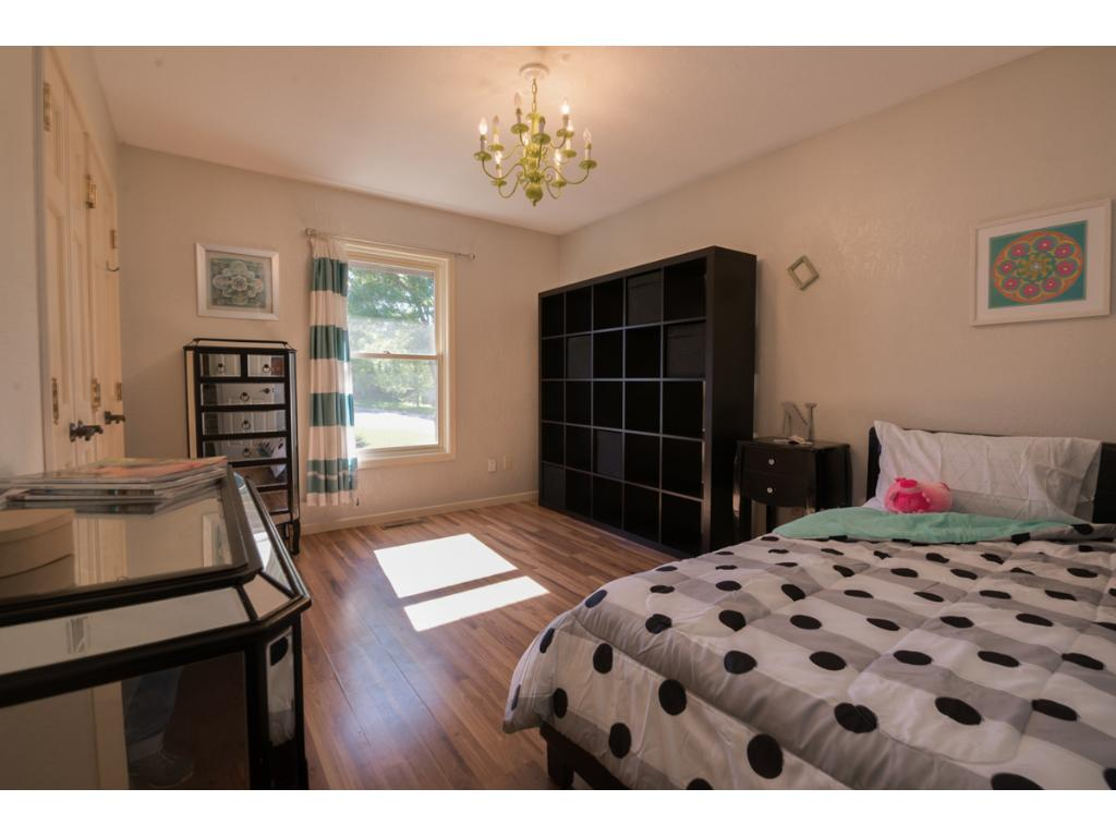 This is one of the two additional bedrooms on the upper level.