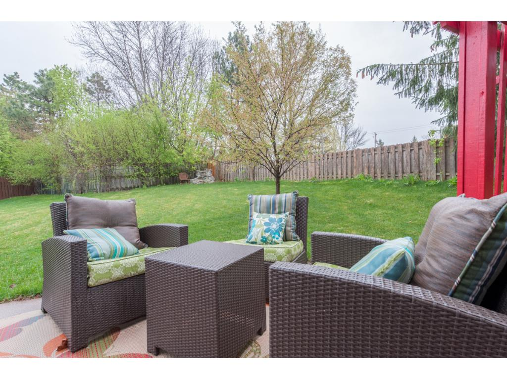 Spend warm days relaxing or entertaining on the patio.