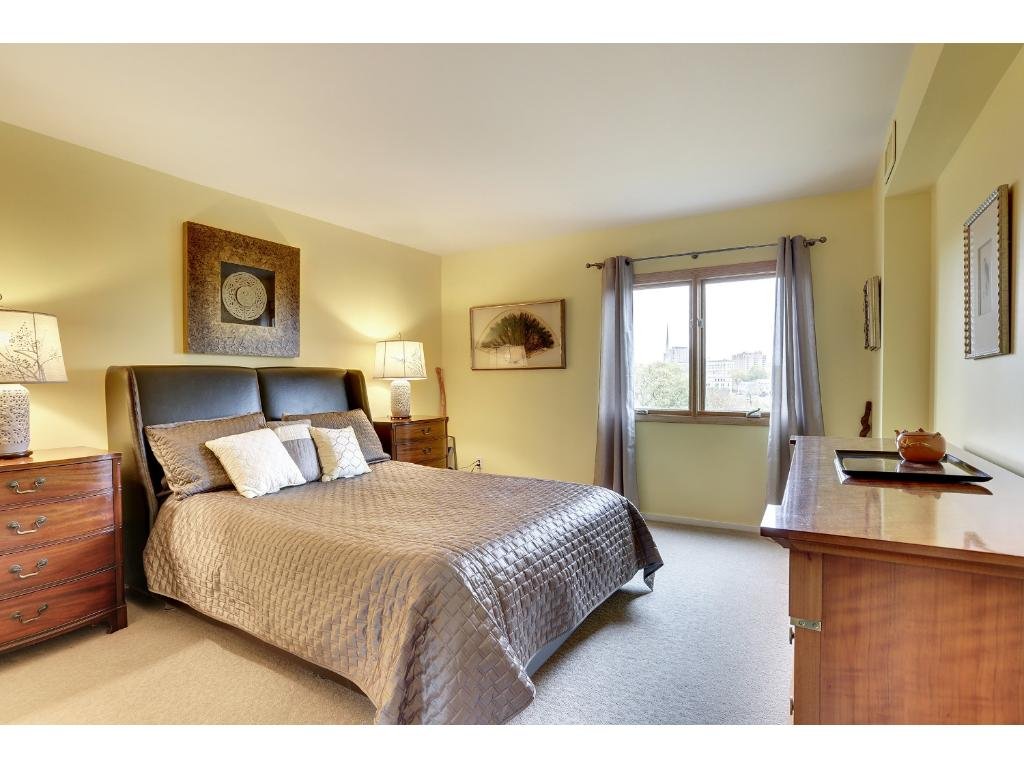 Large master bedroom with new windows.