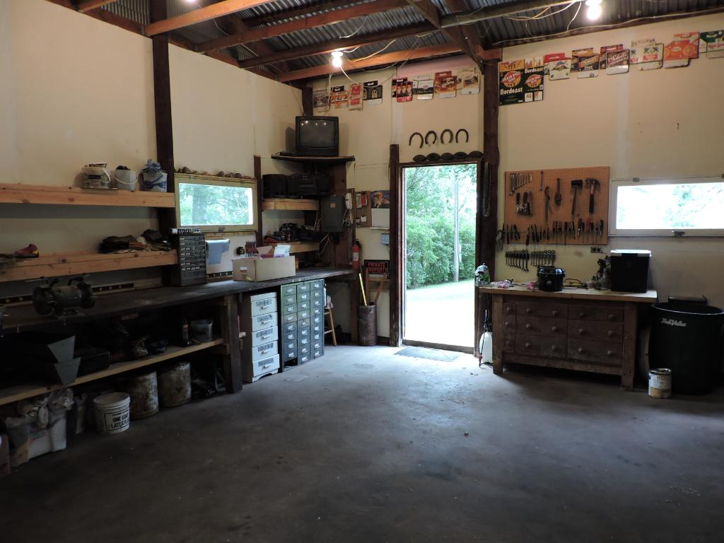 View of inside of workshop